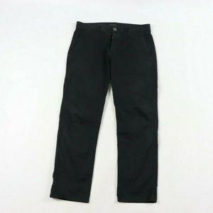 Thoery Haydin Button Fly Slim Straight Jeans Black